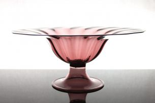 Napoleone Martinuzzia large Footed Bowl No. 1 of 2 V.S.M. Venini & C., Italy 1926
