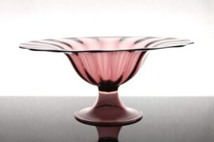 Napoleone Martinuzzia large Footed Bowl No. 2 of 2 V.S.M. Venini & C., Italy 1926